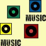 无缝的音乐文本设计例证 免版税库存图片