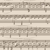 无缝的音乐背景 库存例证