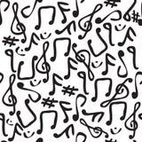 无缝的音乐附注瓦片 免版税库存图片