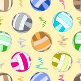 无缝的颜色排球球 库存图片