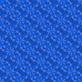 无缝的风格化蓝色花 库存照片