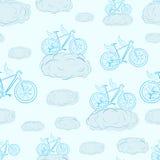 无缝的飞过的自行车 免版税图库摄影