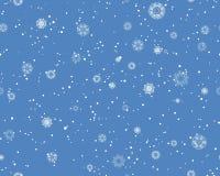 无缝的飞雪模式 免版税库存照片