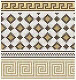 无缝的马赛克带状装饰和装饰 免版税库存图片