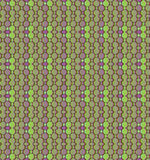 无缝的马赛克样式绿色紫色 库存照片