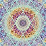 无缝的马赛克艺术样式 免版税图库摄影