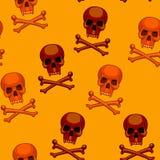 无缝的骷髅图动画片传染媒介 免版税库存照片