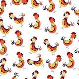 无缝的鸡样式 皇族释放例证