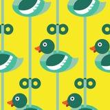 无缝的鸭子与结束样式 库存例证