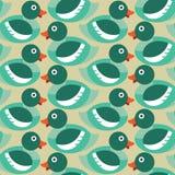 无缝的鸭子样式 免版税库存图片