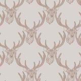 无缝的鹿模式 图库摄影