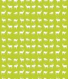 无缝的鹿模式 免版税库存照片