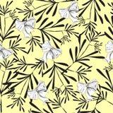 无缝的黄色俏丽的样式 免版税图库摄影