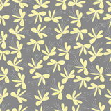 无缝的黄色花纹花样 免版税库存照片