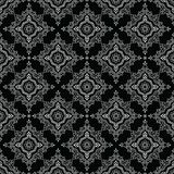 无缝的黑白传统印地安样式 库存图片