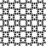 无缝的黑白几何样式 库存照片