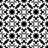 无缝的黑白几何样式 库存图片