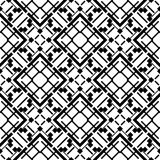 无缝的黑白几何样式 免版税库存图片