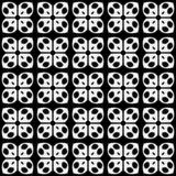 无缝的黑白花形状样式背景 皇族释放例证