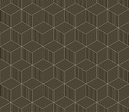 无缝的黑的白色几何样式 免版税库存照片