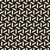 无缝的黑的白色几何样式 库存图片
