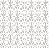 无缝的黑的白色几何样式 免版税库存图片