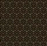 无缝的黑的白色几何样式 免版税图库摄影