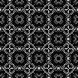 无缝的黑色&空白万花筒锦缎 免版税库存照片