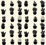 无缝的仙人掌样式-例证 库存图片