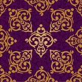 无缝的巴洛克式的锦缎背景 库存照片