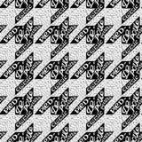无缝的经典织品houndstooth,染色depoule pattern 免版税库存图片