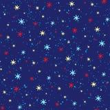无缝的满天星斗的天空装饰品 库存图片
