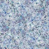 无缝的水彩乱画样式 库存例证