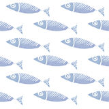 无缝的水彩鱼样式,背景 免版税图库摄影