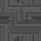 无缝的黑摘要被剥离的几何 库存例证