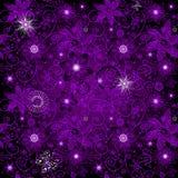 无缝的黑暗紫罗兰色样式 库存例证