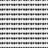 无缝的黑白手拉的样式 向量例证