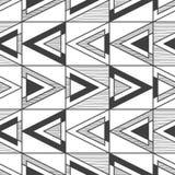 无缝的黑白抽象样式 皇族释放例证