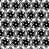 无缝的黑白色装饰品传染媒介样式 库存照片
