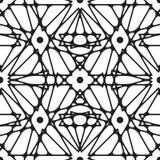无缝的黑白装饰品 与重复元素的现代时髦的几何样式 免版税库存照片
