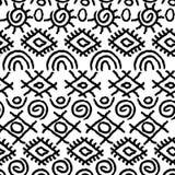 无缝的黑白那瓦伙族人样式 图库摄影