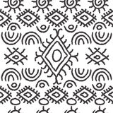 无缝的黑白那瓦伙族人样式 免版税库存图片