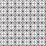 无缝的黑的白色几何样式概述 免版税图库摄影