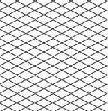 无缝的黑的白色几何样式概述 免版税库存图片