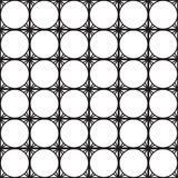 无缝的黑的白色几何样式概述 库存图片