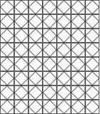 无缝的黑的白色几何样式概述 库存照片