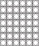 无缝的黑的白色几何样式概述 免版税库存照片