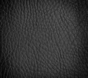 无缝的黑皮革纹理 库存图片