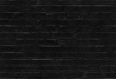 无缝的黑砖墙样式纹理 免版税图库摄影