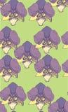 无缝的紫罗兰样式背景 样式剪影 免版税库存图片